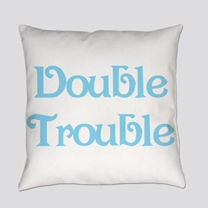 Double Trouble Blue Everyday Pillow